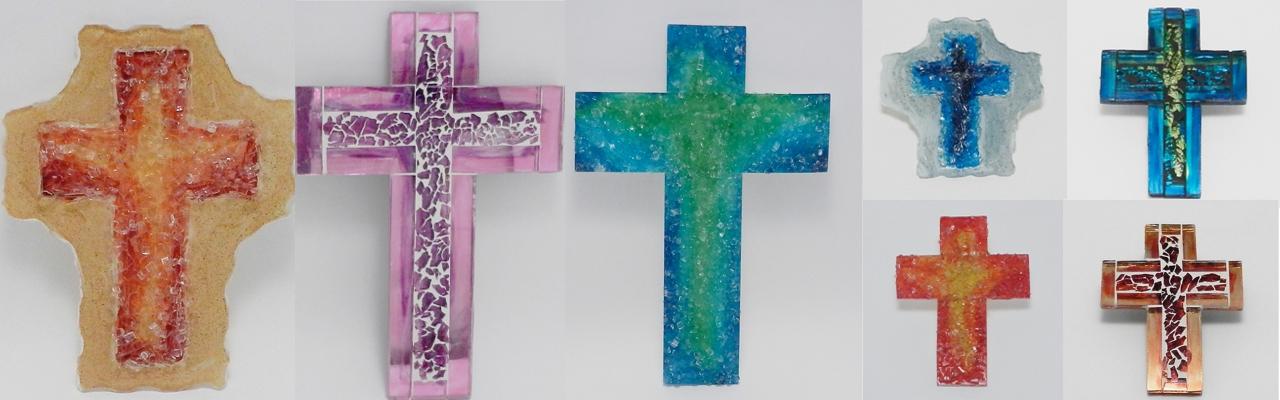 Križ staklo 14×14 fugirani